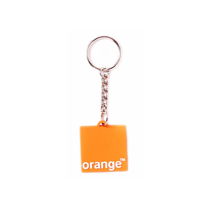 Orange Schlüsselanhänger aus Gummi