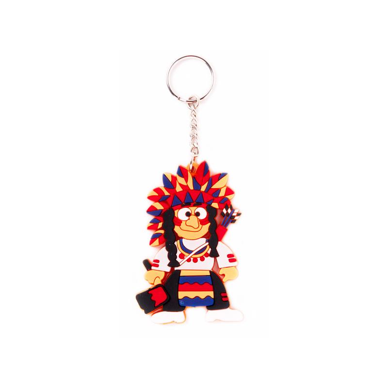 Indianer Schlüsselanhänger aus Gummi